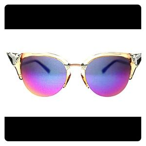 NWT FENDI Crystal Tipped  Cat Eye Sunglasses 52mm